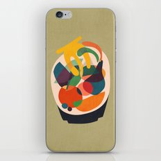 Fruits in wooden bowl iPhone & iPod Skin
