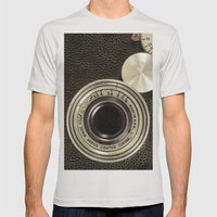 Vintage Argus camera Mens Fitted Tee Silver SMALL