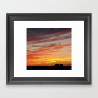 Horizon On Fire Framed Art Print