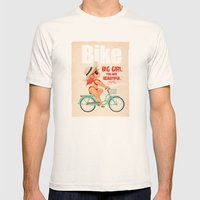BIKE Mens Fitted Tee Natural SMALL