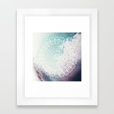 RAINBOW CHIC MANDALA Framed Art Print