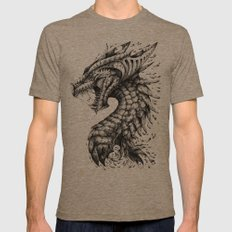 Dragon's Outrage Mens Fitted Tee Tri-Coffee SMALL