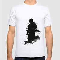 Samurai Mens Fitted Tee Ash Grey SMALL