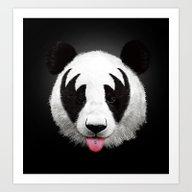 Art Print featuring Kiss Of A Panda by Robert Farkas