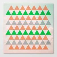 Fly in Pink / Colored Triangles Canvas Print