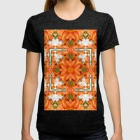 Abstract Kaleidoscope Of… Womens Fitted Tee Tri-Black SMALL