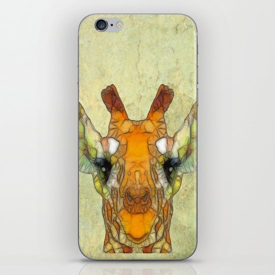 abstract giraffe calf iPhone & iPod Skin