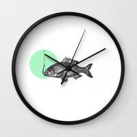 Mint Bubble Wall Clock