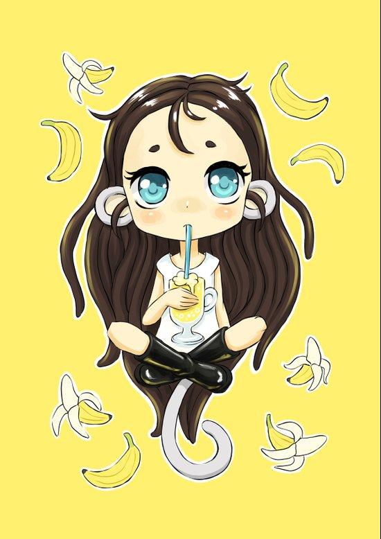 Banana Milkshake Art Print