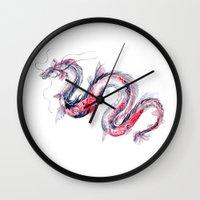 Koi Dragon Wall Clock