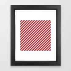 Red Stripes Framed Art Print