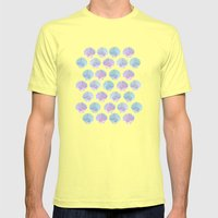 iridescent shells pattern Mens Fitted Tee Lemon SMALL
