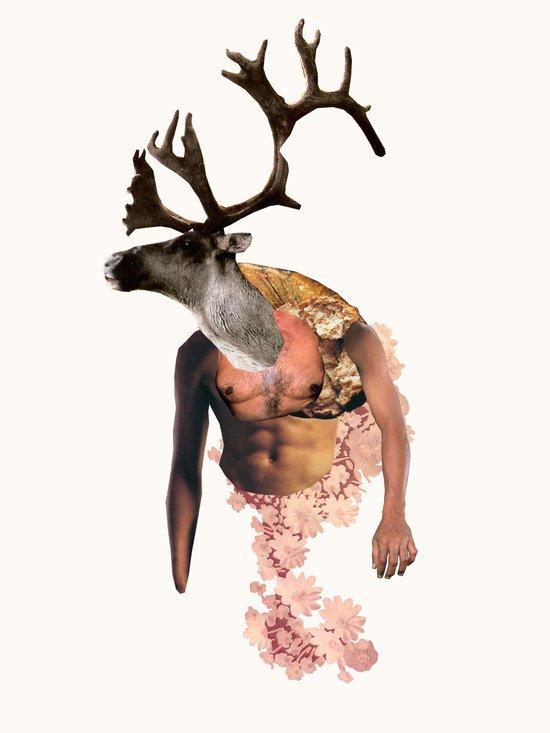 Tough Moose Art Print