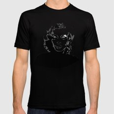 Marilyn Monroe SMALL Mens Fitted Tee Black