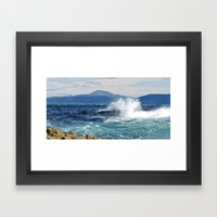Ben More from Staffa Framed Art Print