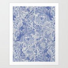Crow Pattern Art Print