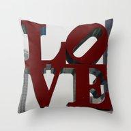 Love Philadelphia Sculpt… Throw Pillow