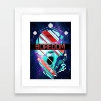 Space Baby Framed Art Print