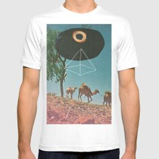 Desert Guide White Mens Fitted Tee SMALL