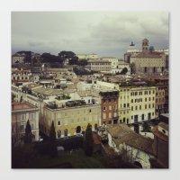 Canvas Print featuring Rainy Rome by Rachel Logan