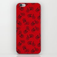 Red Bicycle Pattern iPhone & iPod Skin