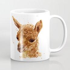 Alpaca Painting, alpaca print, animal art print, alpaca Mug
