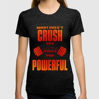 Crush Womens Fitted Tee Tri-Black SMALL