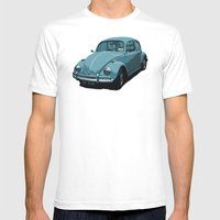 Beetle Blues Mens Fitted Tee White SMALL