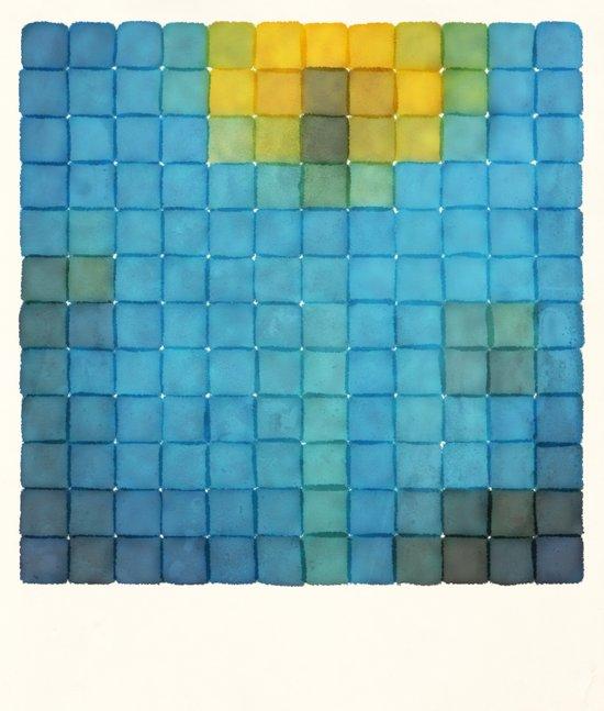 Polaroid Pixels I (Flower) Art Print