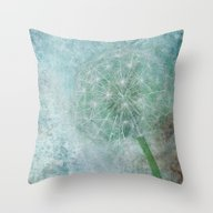 Delicate And Blue  Throw Pillow