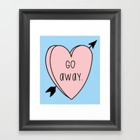 Go Away Framed Art Print