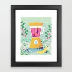 Smooth morning Framed Art Print
