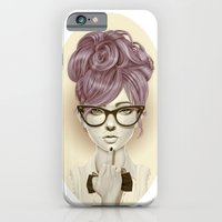 girl iPhone & iPod Cases featuring Fu*k U by Giulio Rossi