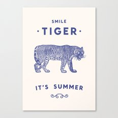 Smile Tiger, it's Summer Canvas Print