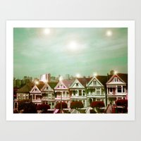 Painted Ladies - remix Art Print