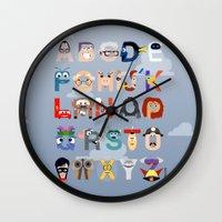 P Is For Pixar (Pixar Al… Wall Clock