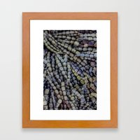 seaweed beads Framed Art Print