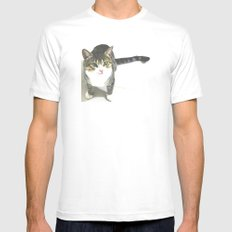 Miojo Cat. Mens Fitted Tee SMALL White