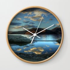 Rider at Pangong... Wall Clock