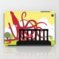 Giant Squid Attacks Edinburgh's Acropolis iPad Case