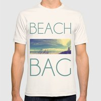 Panoramic Beach Shot Mens Fitted Tee Natural SMALL