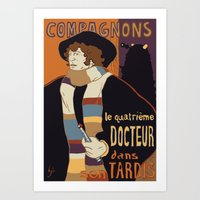Le Fourth Doctor Art Print