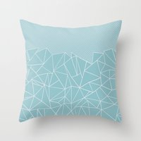 Ab Lines 45 Sea Throw Pillow