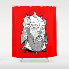 Warrior's Decapitated Head Shower Curtain