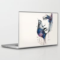 Laptop & iPad Skin featuring Window, watercolor & ink painting by Jane-Beata