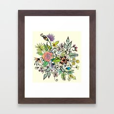 Floral Yellow Framed Art Print