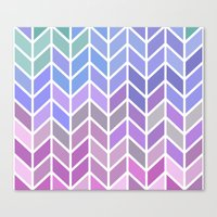 blue & purple chevron Canvas Print