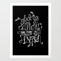 Let Go & Let The Magic Happen Art Print