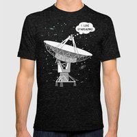 I love stargazing! Mens Fitted Tee Tri-Black SMALL