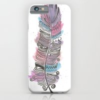 Purple and Blue Zen Feather iPhone 6 Slim Case